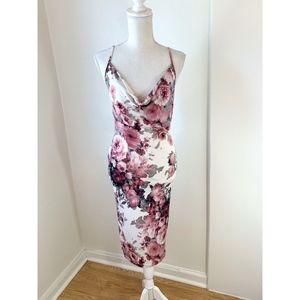 Windsor Floral Print Bodycon Midi Dress {TH}